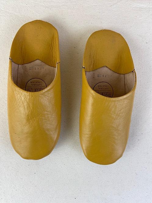 Babouches Beldi (moutarde) qualité supérieure