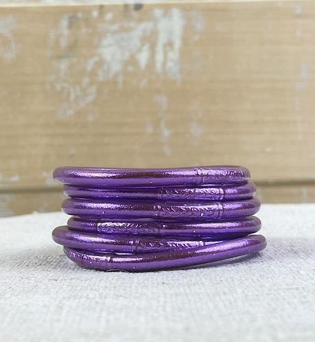 """Bracelet Bouddhiste mantra épais """"violet"""""""
