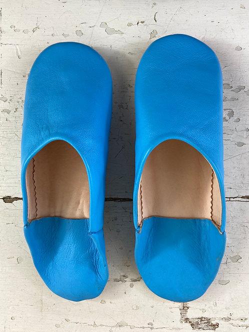 Babouches beldi (bleu)