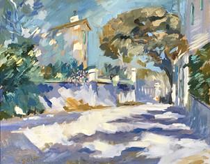 Tamaris - hommage à  Korovin - Huile sur toile 46x38