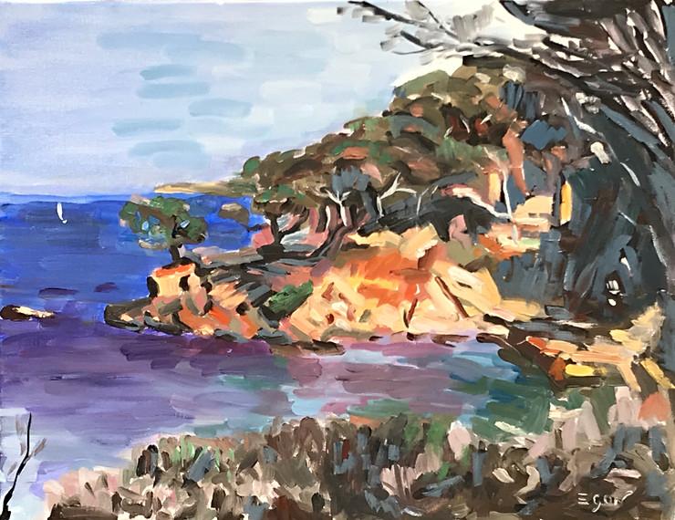 L'anse de la Badine - Huile sur toile 65x50