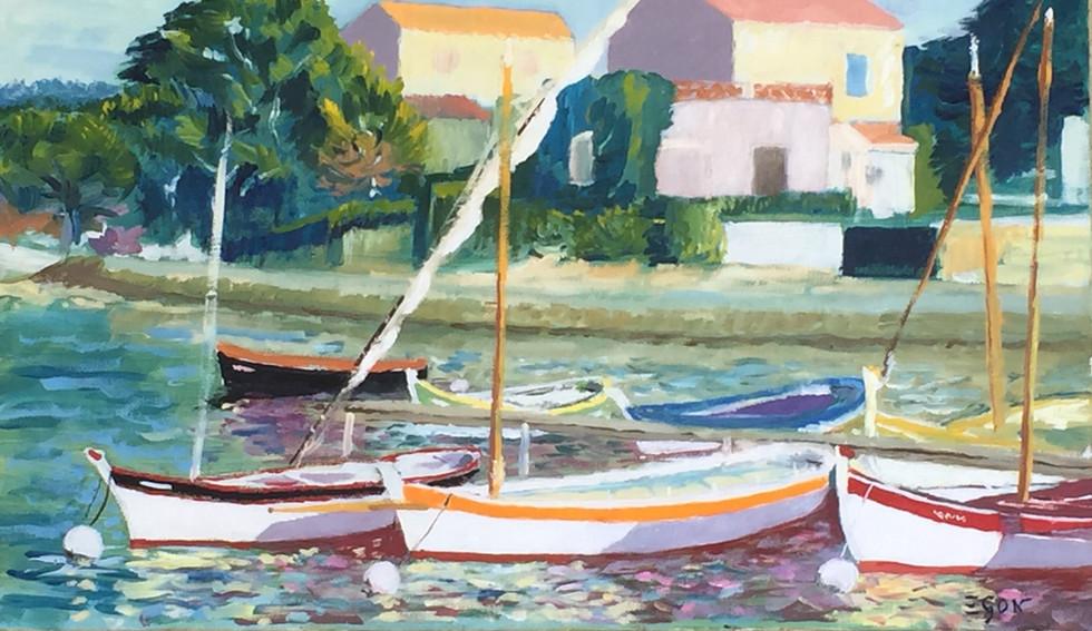 Le port du Brusc - Huile sur toile 55x33