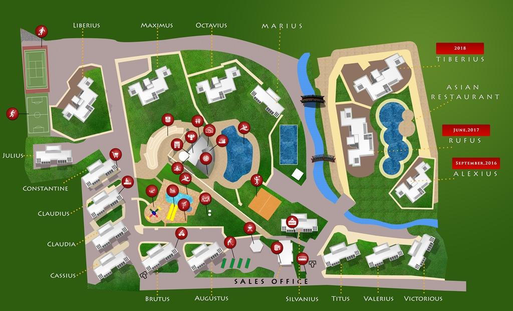 Резиденция ЦЕЗАРЯ-сайт план