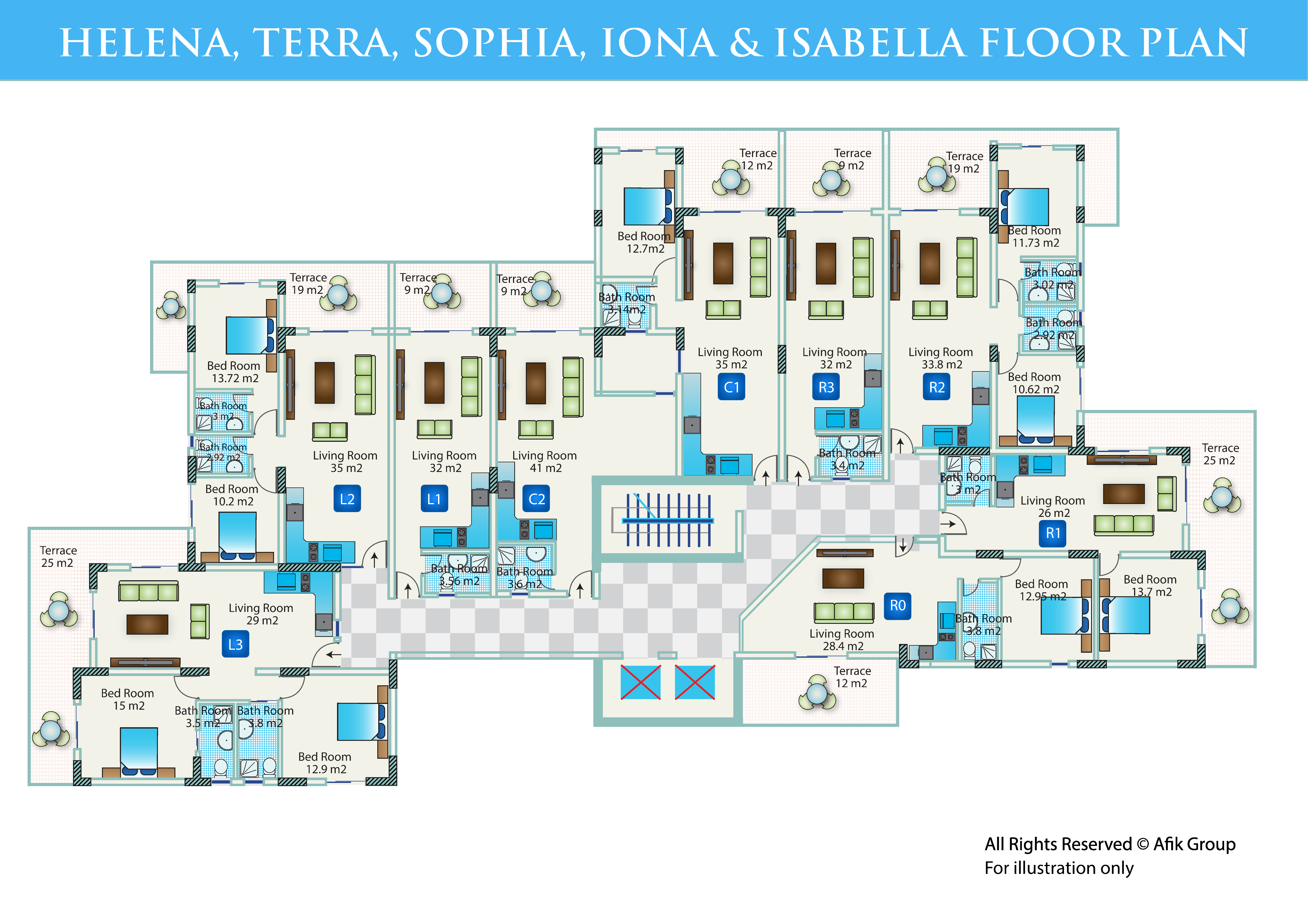 Caesar Blue - Floor Plan