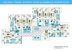 Caesar Blue - Floor Plan