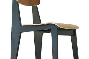50s modernist dining chair black natural atom58 vintage inspired Jean Prouvé