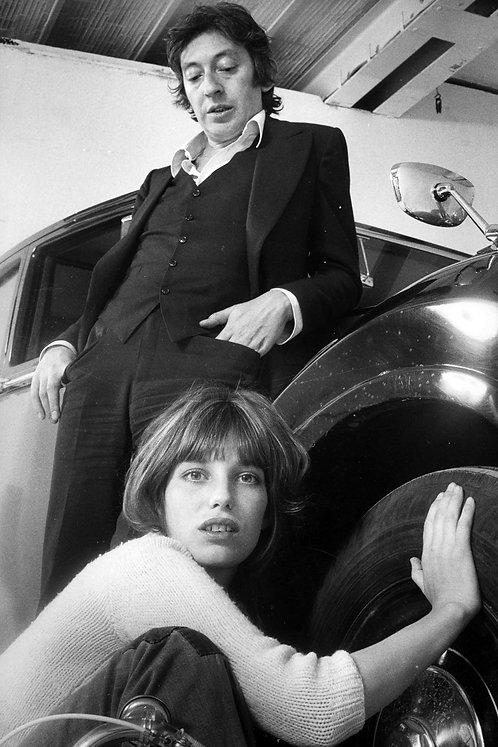 Jane Birkin  & Serge Gainsbourg Vintage Car Nr 39 Alu panel