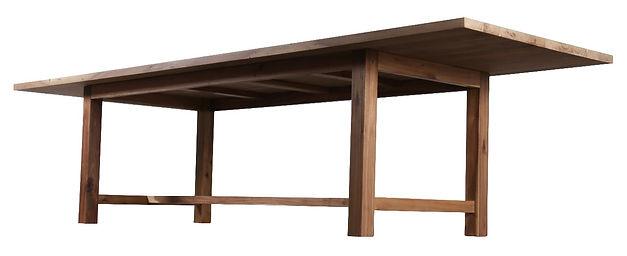flanders solid wooden table base atom58 vintage design