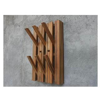 Piano Hanger 2 Row W39 Teak Natural