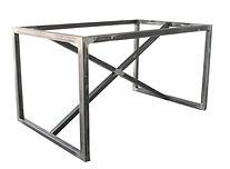 industrial metal cross leg table base 128cm atom58