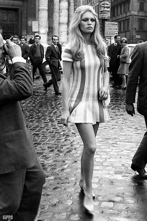 Brigitte Bardot Mini Dress Stripes Nr 37 Alu panel