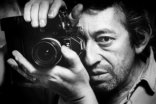 Serge Gainsbourg with camera Nr 01 Alu panel
