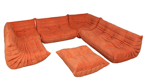 TOGO Ligne Roset Extra Big Set in Mandarin