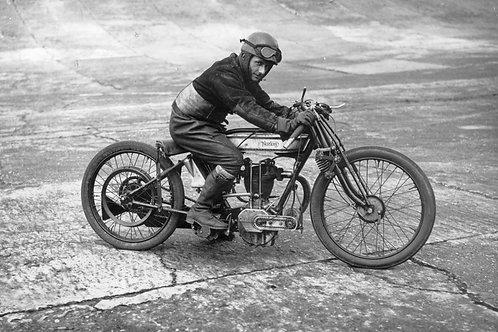 Vintage Motorcycle Nr 68 Alu panel