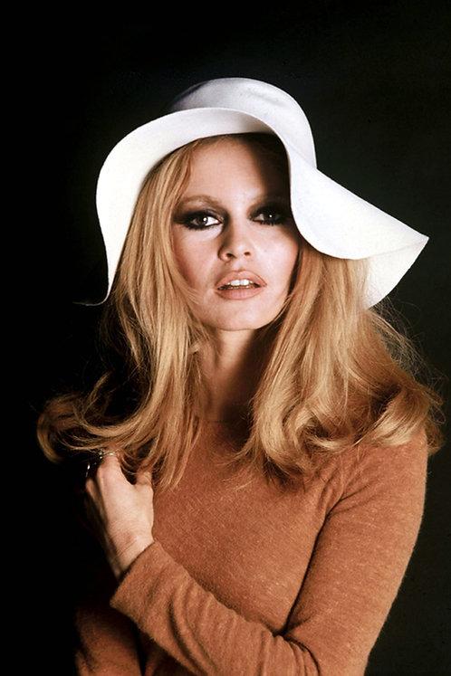 Brigitte Bardot White Head Nr 34 Alu panel