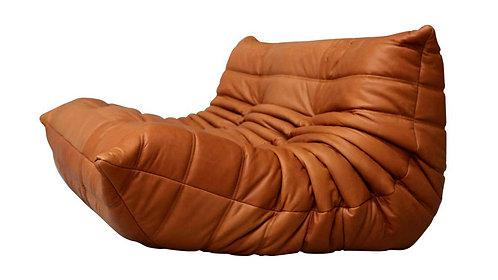 TOGO Ligne Roset Small Settee Cognac Leather