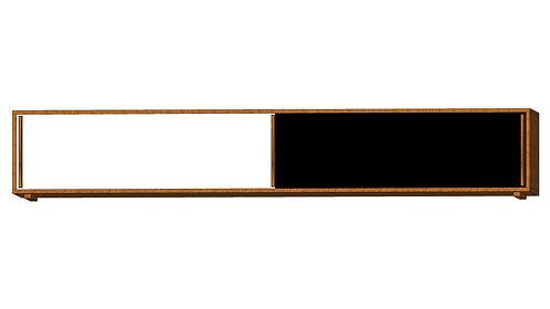 Dean Cabinet 240 2 Sliding Doors White Black