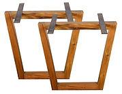 trapezium table base 80x70 atom58 vintage design
