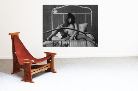 3 legged sling chair by Felix de Boussy