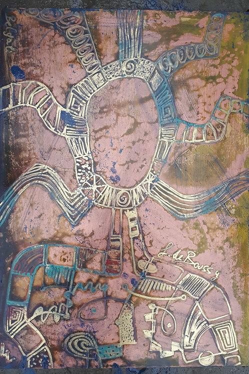 "Felix de Boussy ""AFRO Female Acid"" art panel on Alu"