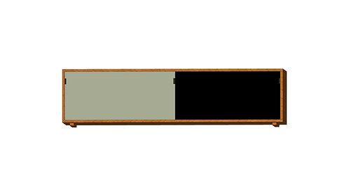 Dean Cabinet 160 2 Doors Grey Black