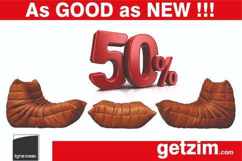 Getzim.com Togo Ligne Roset seating as good as NEW at 1/2 price