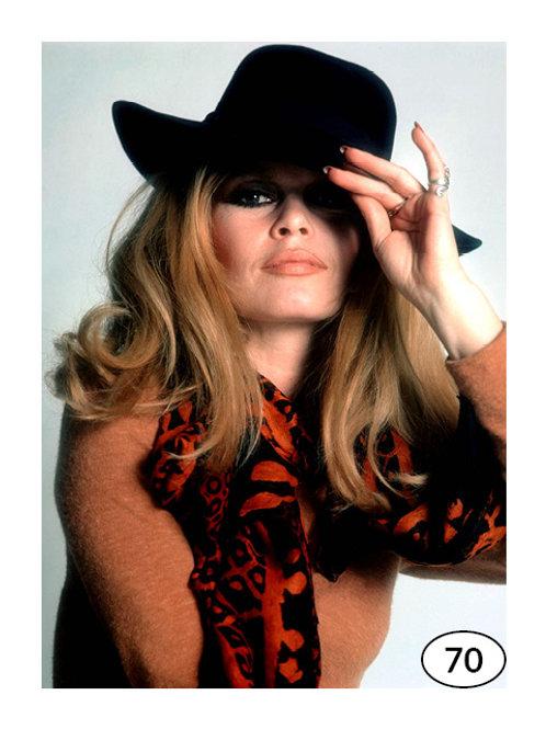 Vintage Picture Brigitte Bardot nr70 (40x40cm)