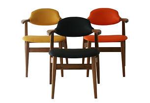 cowhorn chair atom58 vintage design