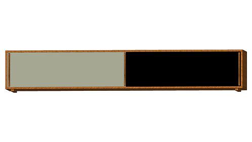 Dean Cabinet 240 2 Sliding Doors Grey Black