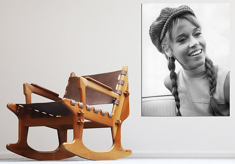 Brazillian design rocking chair