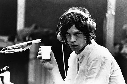 Mick Jagger in Studio Nr 101 Alu panel