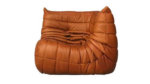 TOGO Ligne Roset Corner Seat Cognac Leather