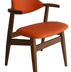 Dutch vintage cowhorn armchair
