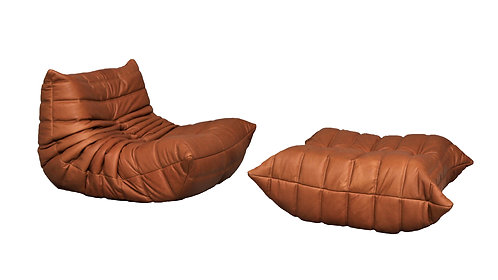 TOGO Ligne Roset Small Set in Cognac Leather