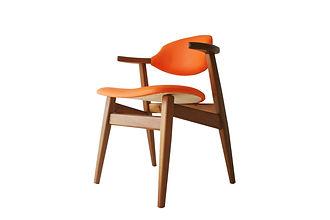 cowhorn chair orange atom58 vintage desi