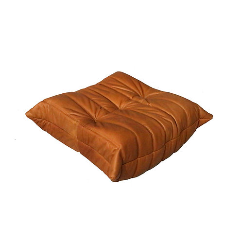 TOGO Footstool Cover in Bellalu Signature Cognac Leather