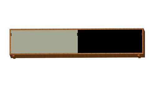 Dean Cabinet 200 2 Sliding Doors Grey Black