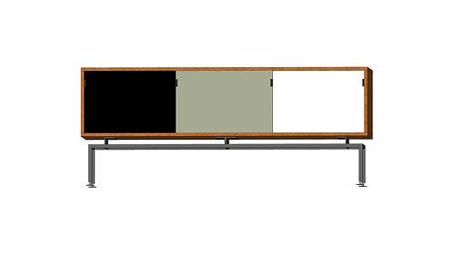 Dean Cabinet 160 3 Doors Black Grey White