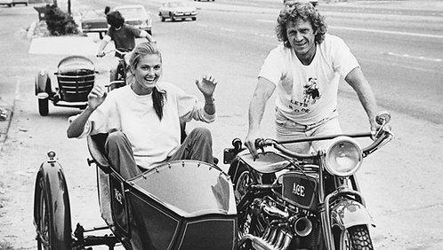 Steve Mc Queen sidecar moto Nr 51 Alu panel
