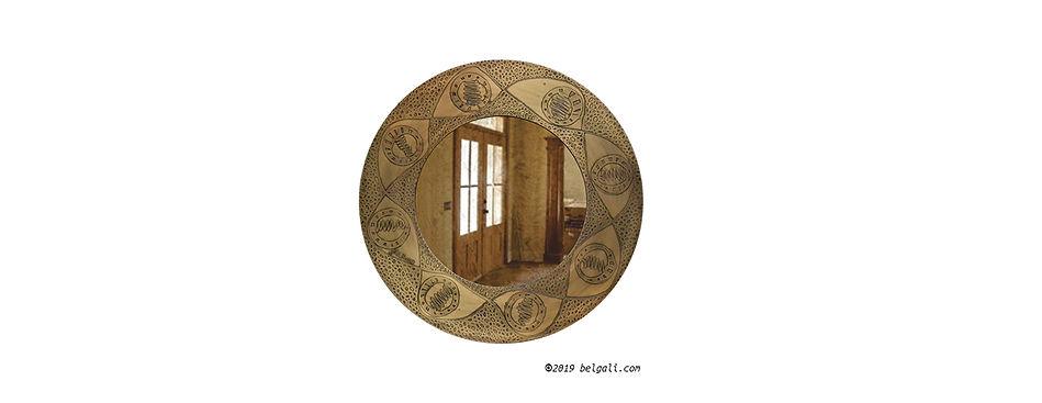 saturn brass antique brown mirror belgal