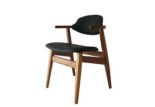 cowhorn chair black atom58 vintage desig