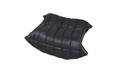 TOGO Footstool Cover in Bellalu Signature Black Leather