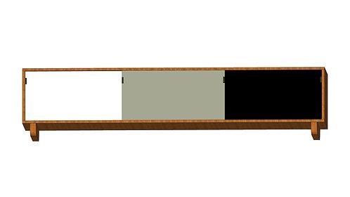 Dean Cabinet 200 White Grey Black