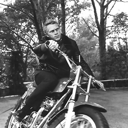 Steve Mc Queen Moto Nr 50 Alu panel