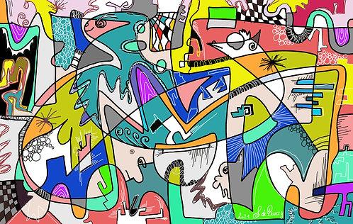 "Felix de ""Boussy Octopussy"" art panel on Alu"