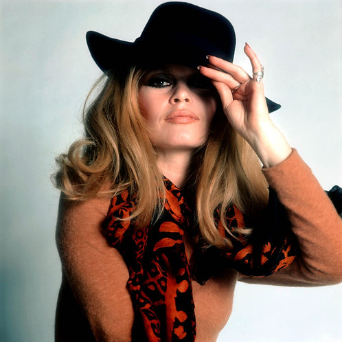 Brigitte Bardot Black Head_2 Nr 70 Alu panel