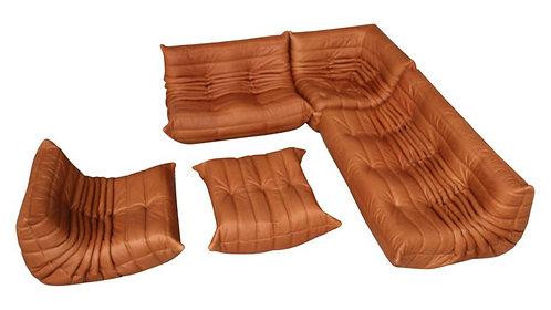 TOGO Ligne Roset Big Set in Cognac Leather