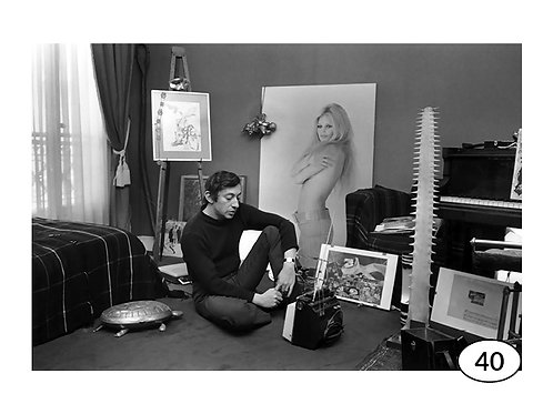 Vintage Picture Serge Gainsbourg nr40 (90x60cm)