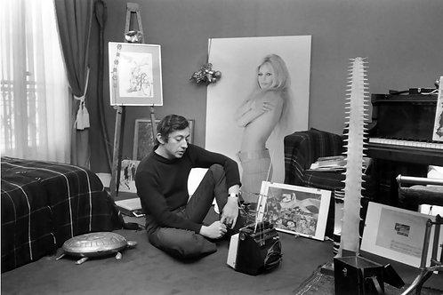 Serge Gainsbourg & BB painting Nr 40 Alu panel