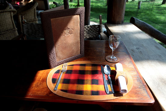 Kenyan Leather Menus